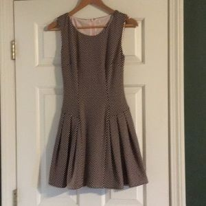 Dress Barn Dresses - Brown and peach polkadot dress